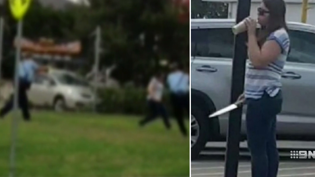 Footage captures moment police fatally shoot knife-armed woman Courtney Topic