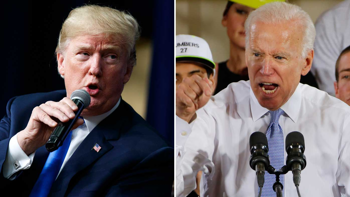'He would go down fast and hard': Trump, Biden threaten to fight one another