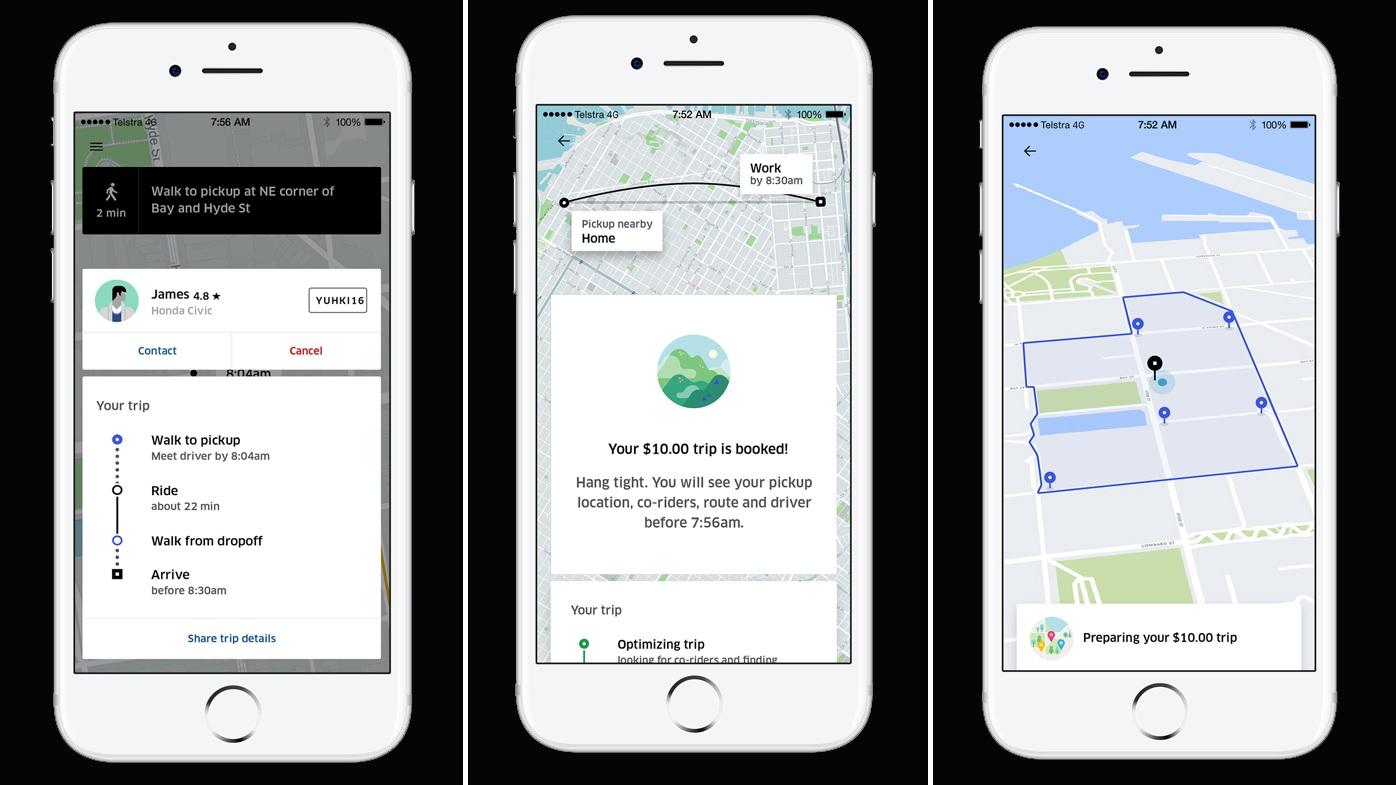 UberPOOL pic - Uber ra mắt hình thức đi xe mới với mức giá rẻ hơn 50%