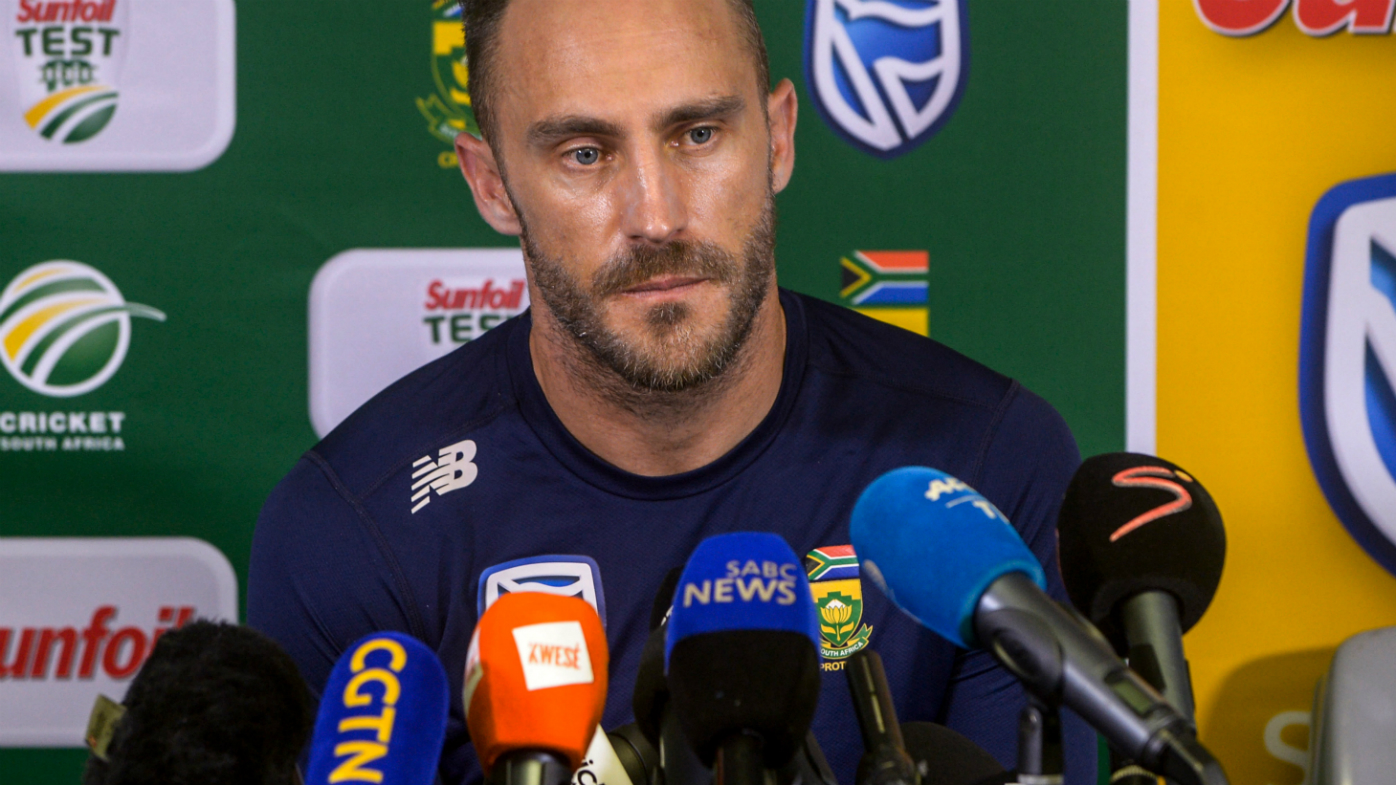 Faf du Plessis faces media