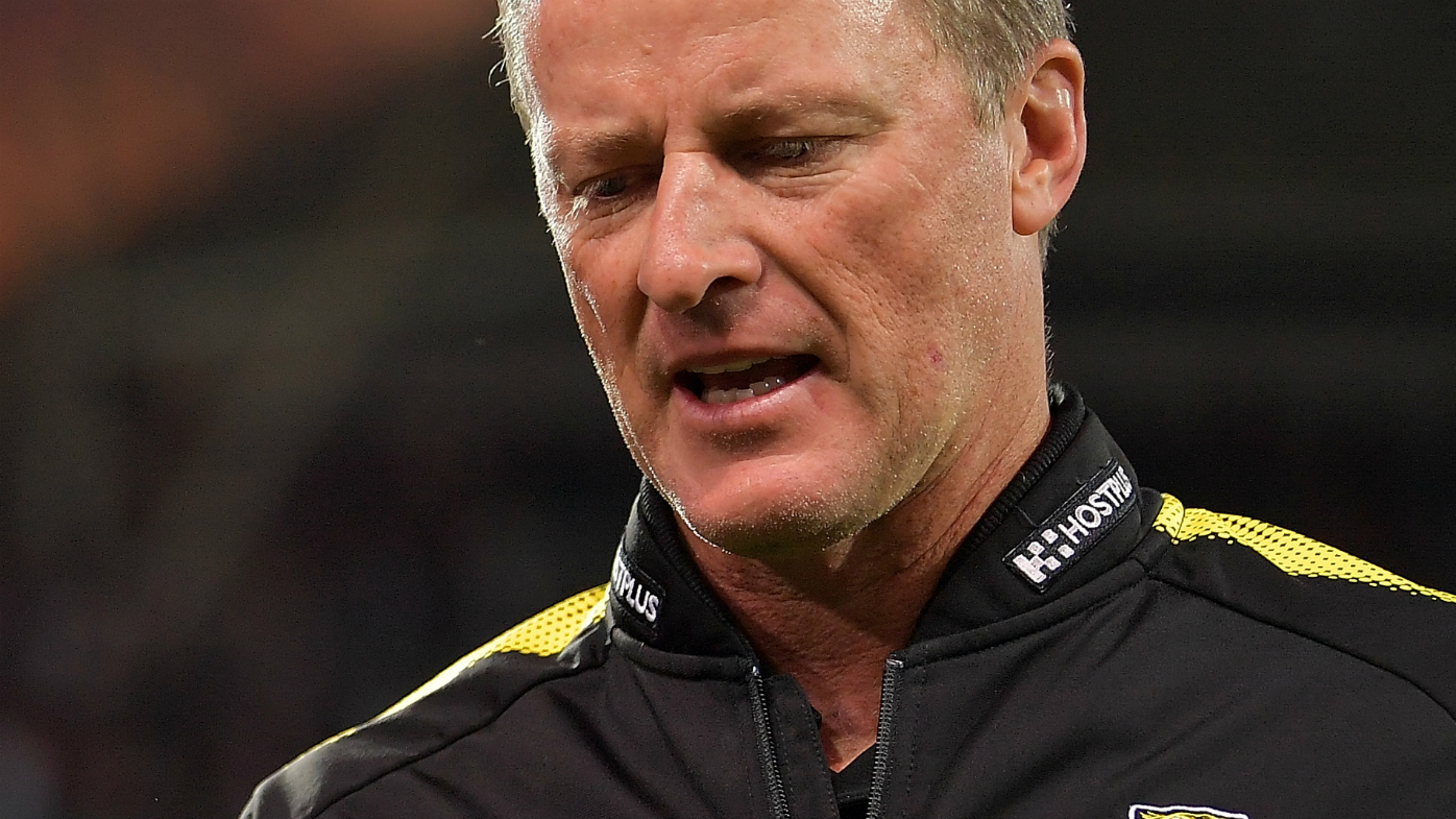 Damian Hardwick clashed with a fan