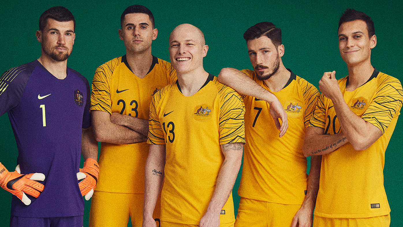 796af6322 New Socceroos Nike kit revealed for 2018 World Cup in Russia