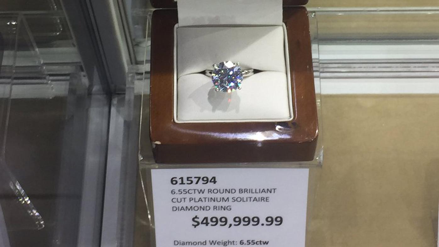 Costco Australia is selling a diamond ring worth half a million dollars