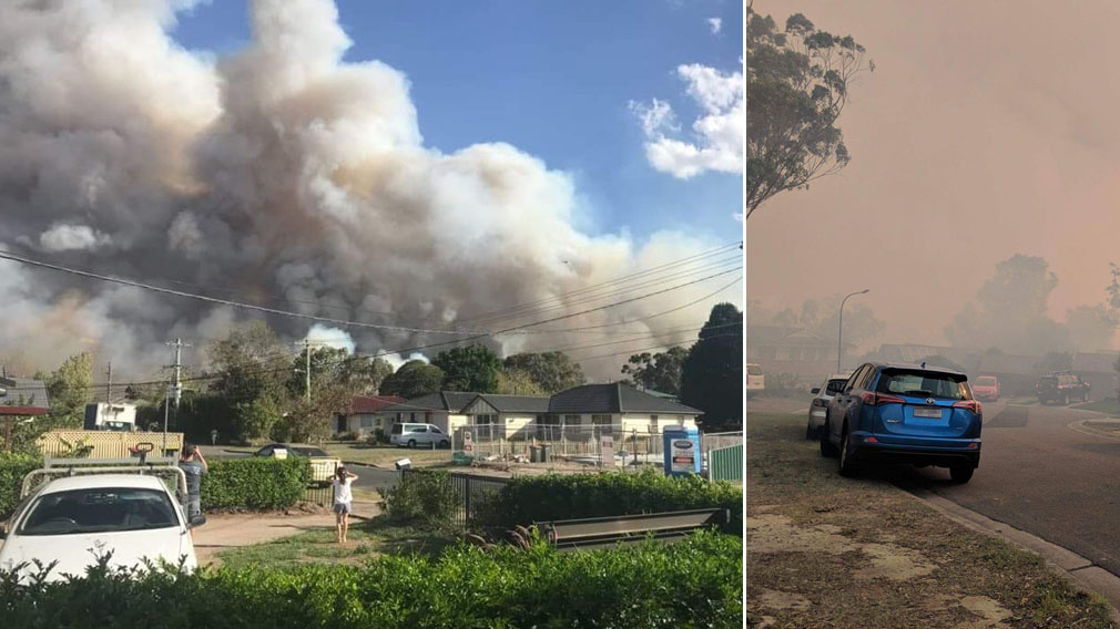 What It S Like To Be In The Path Of A Bushfire 9news