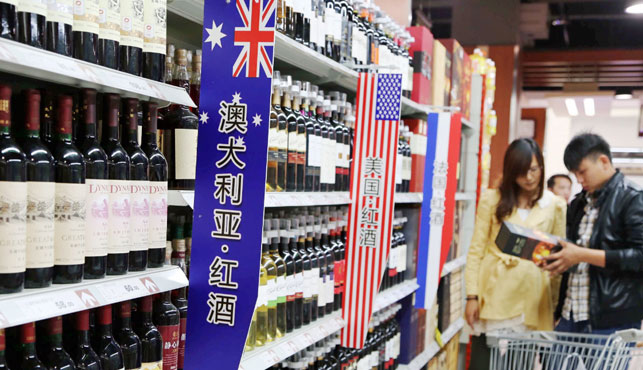 Australian wine exports to China have jumped by 51 percent over the past 12 months. (Photo: AAP).