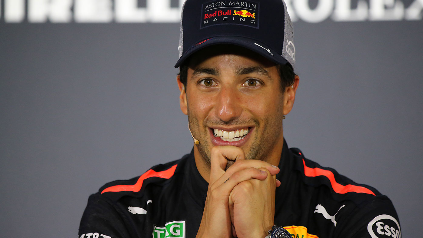 Australian F1 driver Daniel Ricciardo of Red Bull Racing