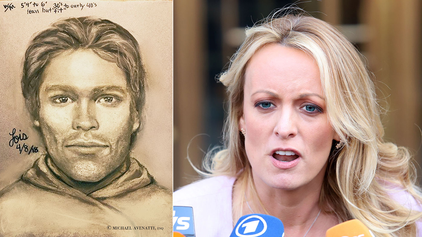 Stormy Daniels and the sketch of her alleged assailant