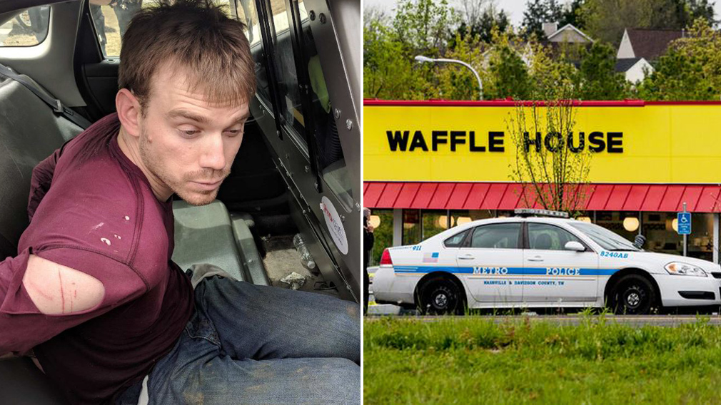 A Manhunt Is Underway For The Gunman That Opened Fire With An Ar 15 At Nashville Area Waffle House Early Sunday Killing Four People Before His Gun Was