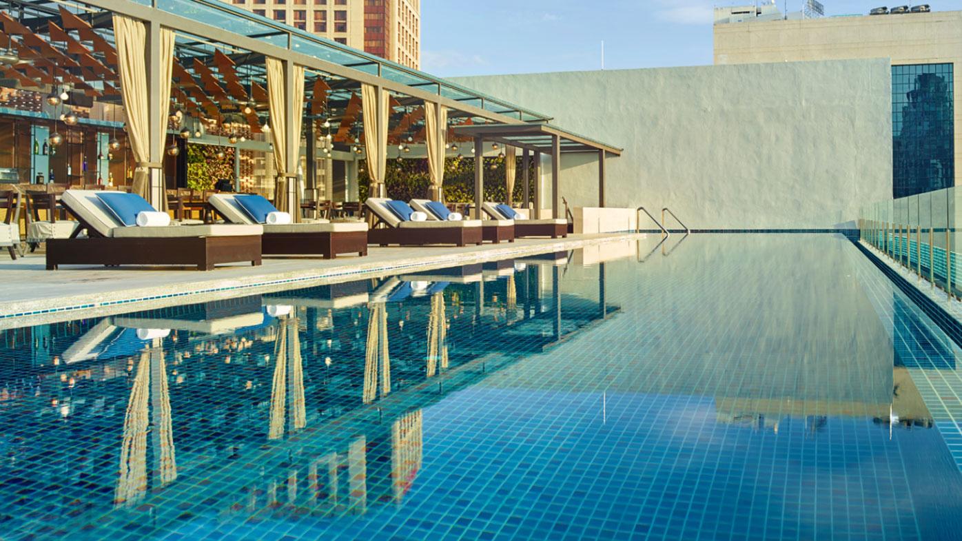 Hotel stripes in malaysia 39 s kuala lumpur 9travel - Rooftop swimming pool kuala lumpur ...