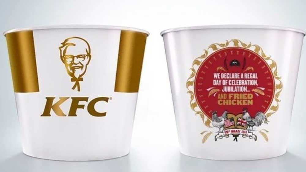 KFC royal wedding commemorative bucket