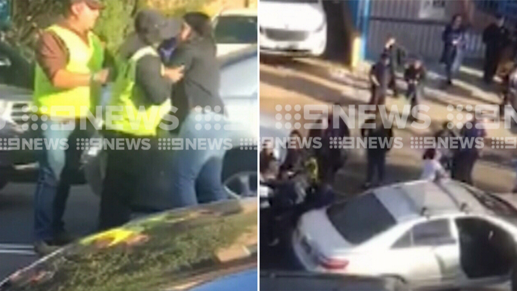 Mums brawl outside western Sydney school in front of young children