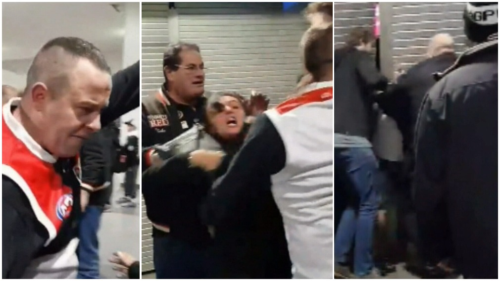 Violent brawl between footy fans in front of children 'a disgrace'