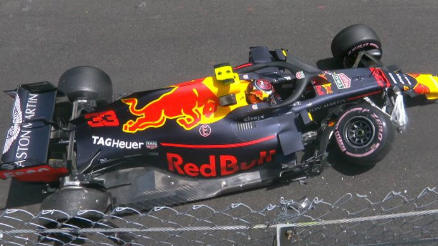 Max Verstappen crash