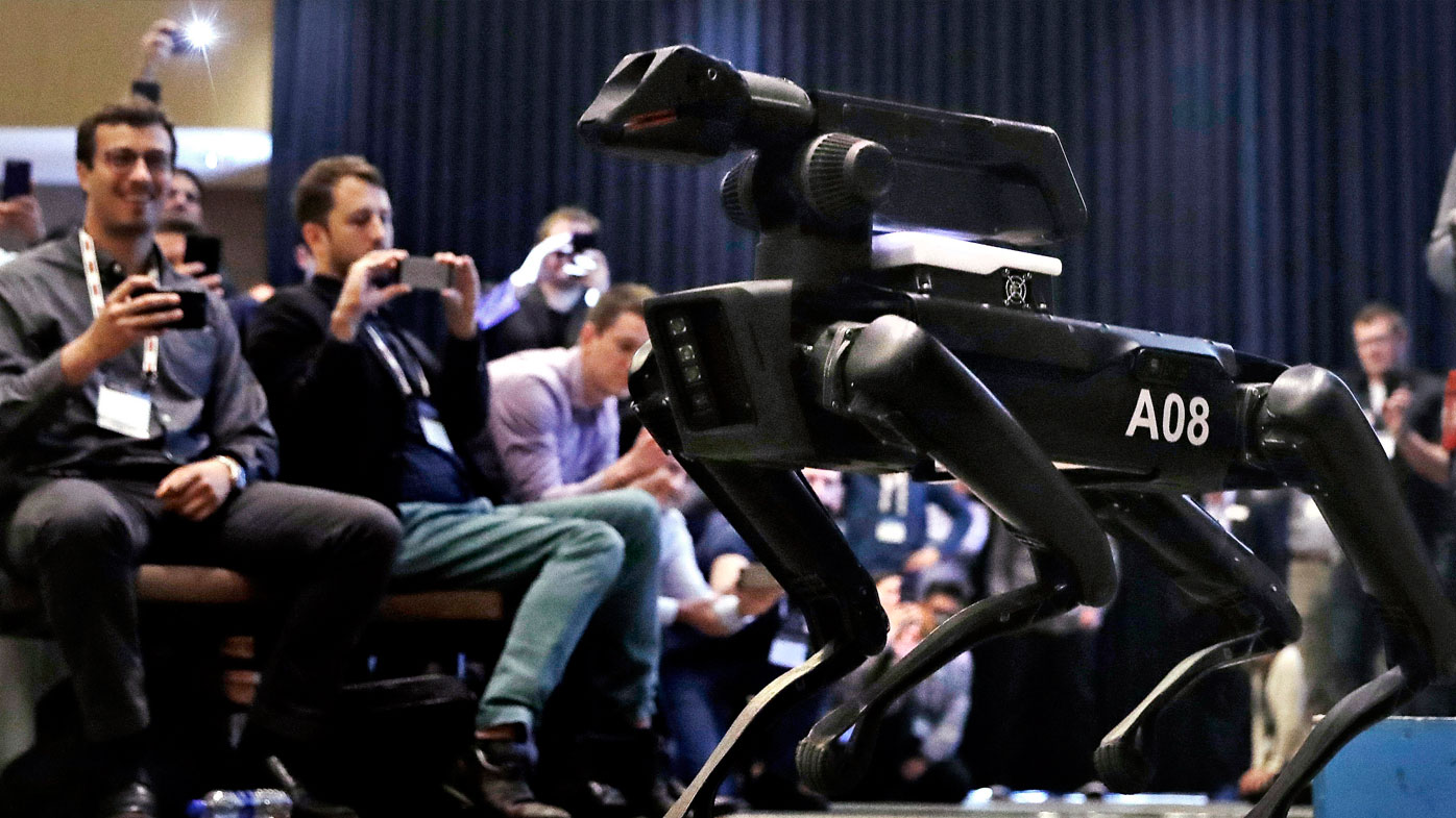 The secretive robotics firm Boston Dynamics and its founder Marc Raibert have spent decades designing robots that can jump, gallop or prowl like animals. (AP Photo/Charles Krupa)