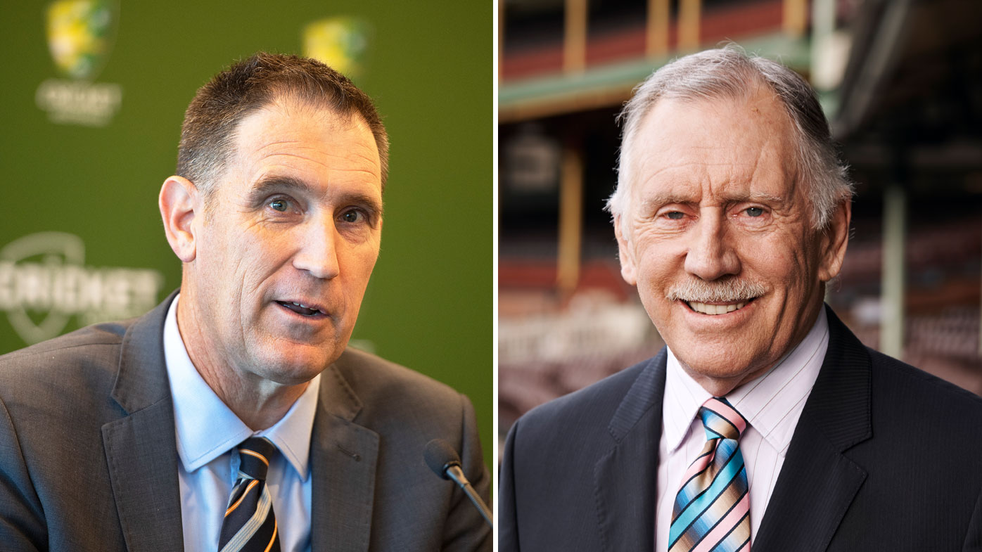 James Sutherland (left) and Ian Chappell