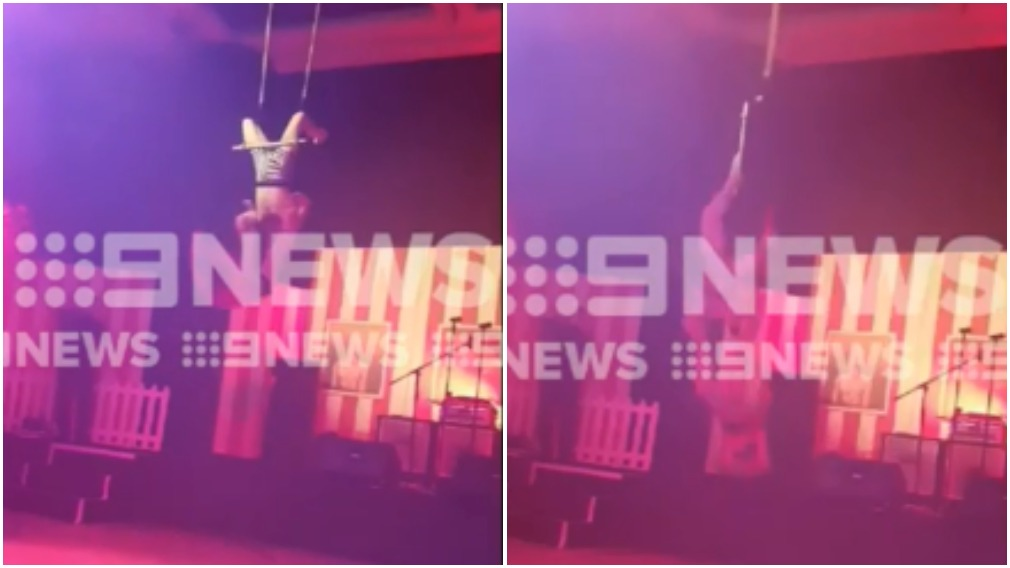 Trapeze artists hurt in fall at Perth police ball
