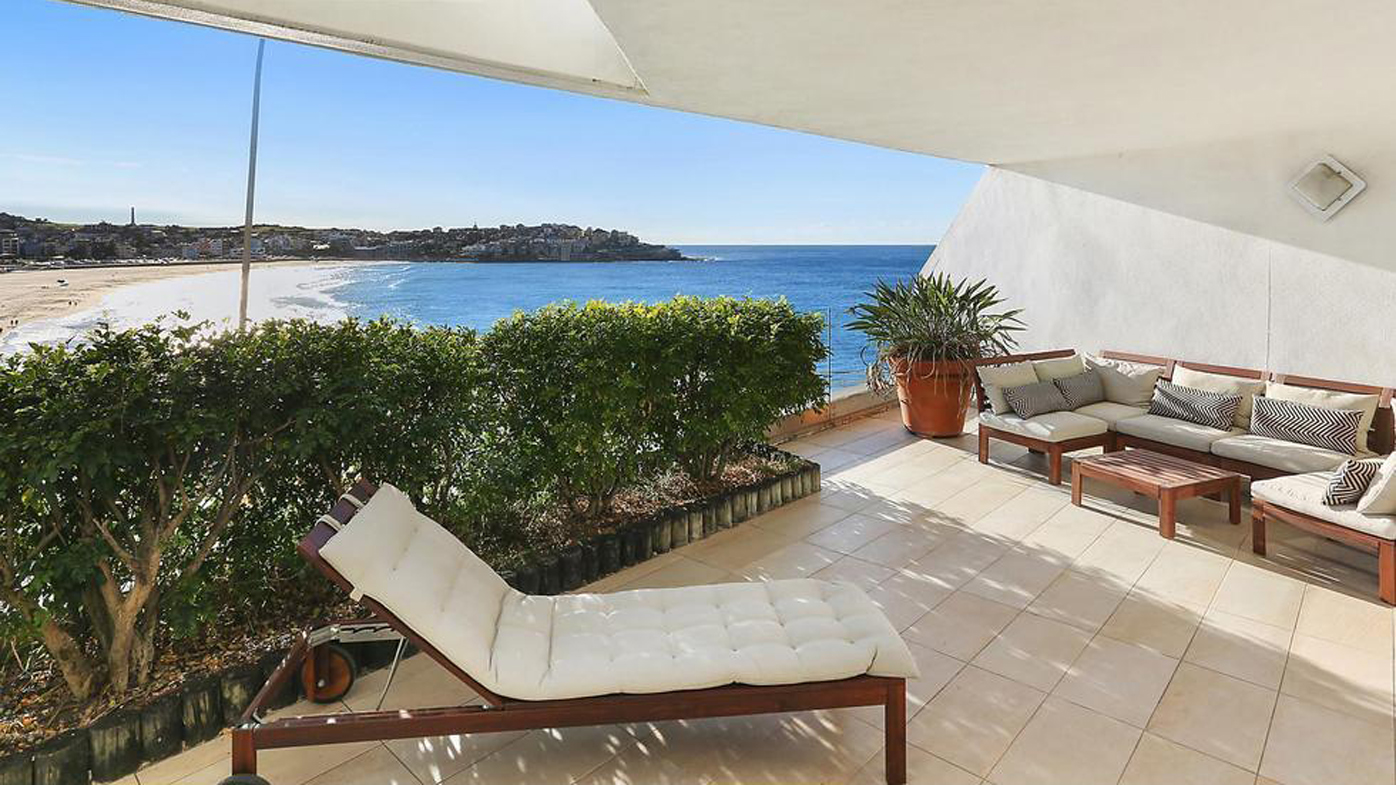 This two bedroom apartment right on Bondi Beach fetched a staggering $5 million. Image: McGrath