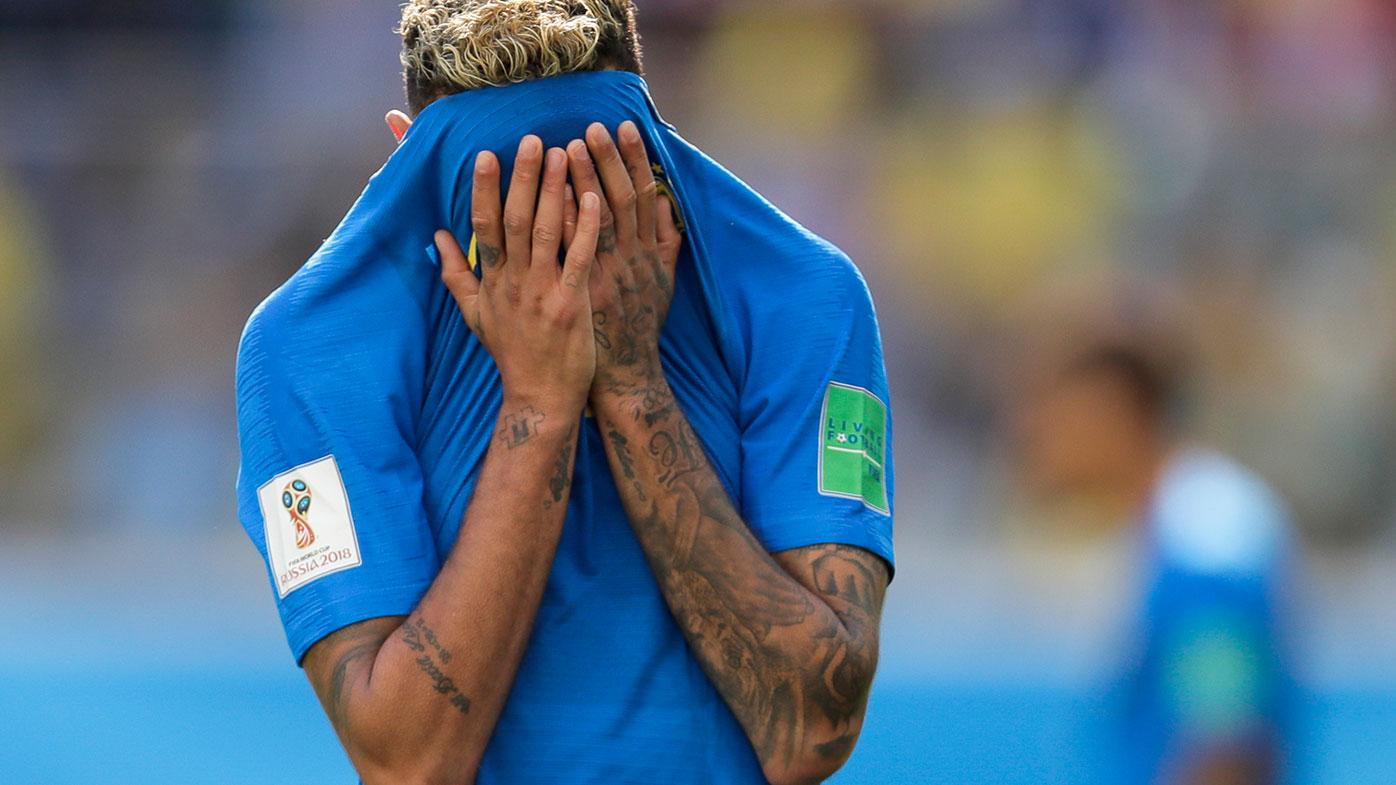 Neymar Jr crying