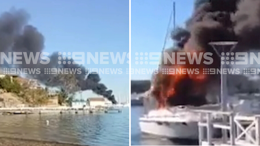 Man taken to hospital in serious condition after boat explodes