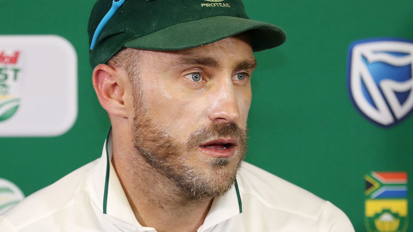 South African cricket captain Faf du Plessis