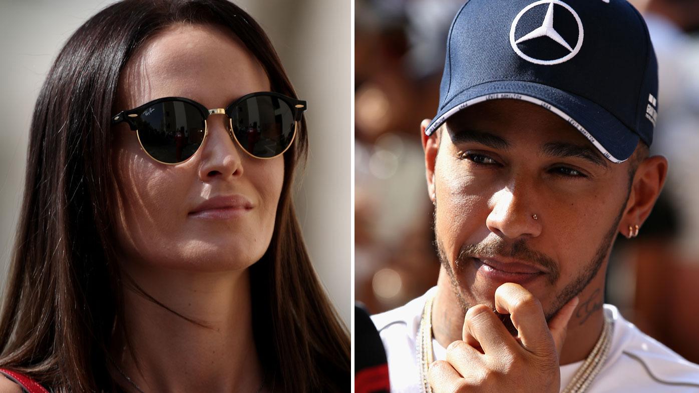 Minttu Raikkonen and Lewis Hamilton