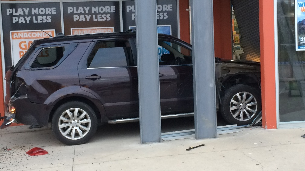 Sports store targeted in brazen ram-raid