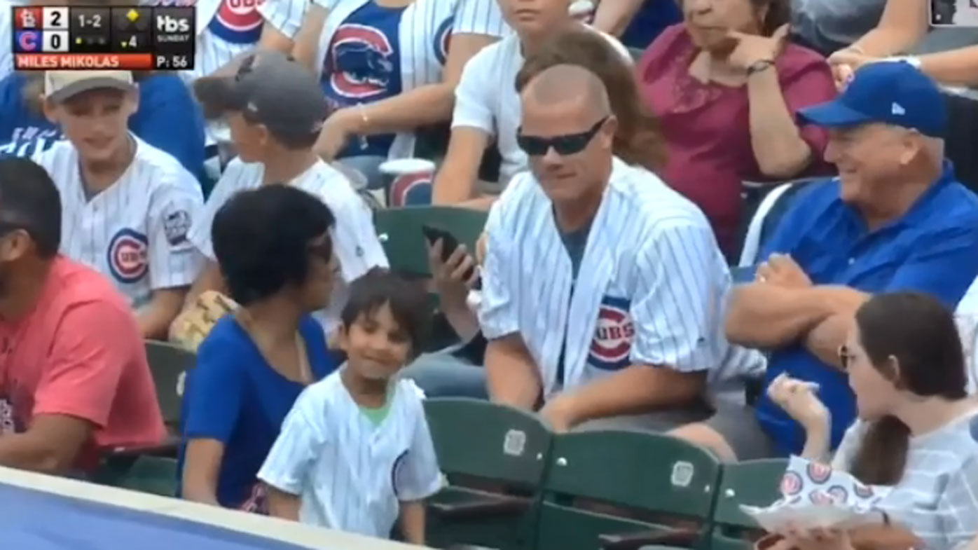 Cubs Fan Steals Foul Ball From Kid But The Little Guy Still Wins