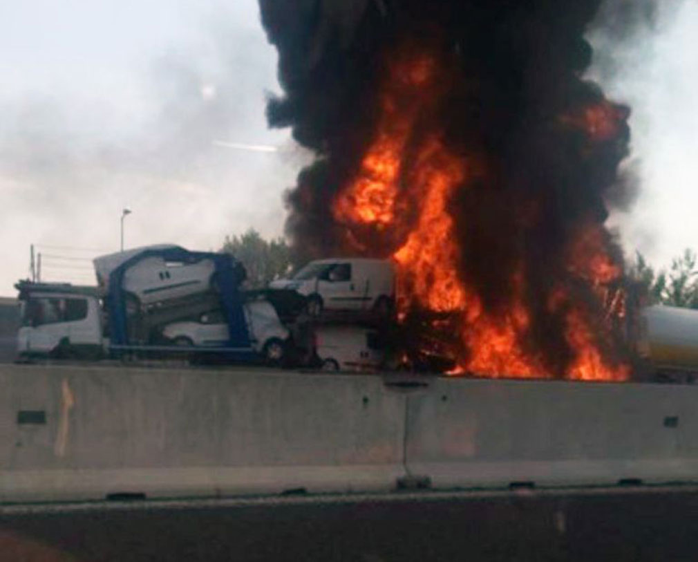 At least one dead, 56 injured after truck explodes on Italy motorway
