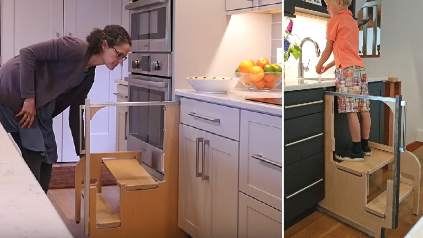 Clever Hidden Cupboard Stairs Fold Away Into Nothing 9homes