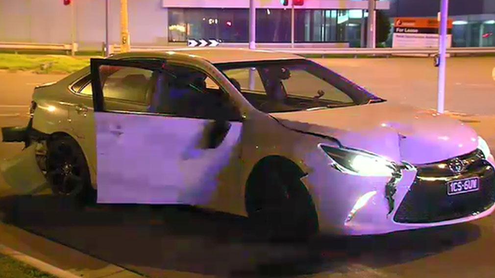 Two Melbourne police vans rammed