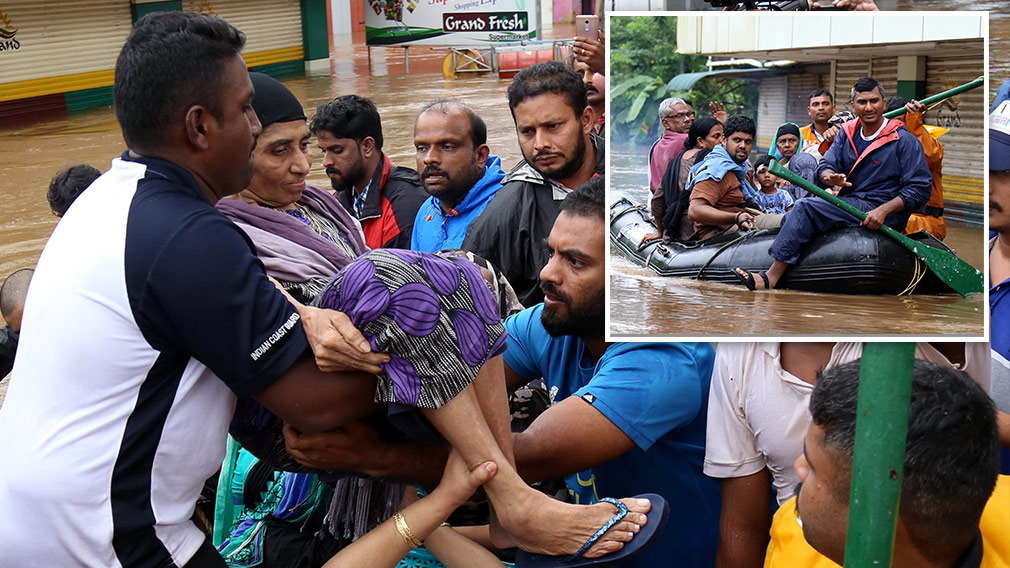 People plucked from rooftops as Indian floods kill more than 300