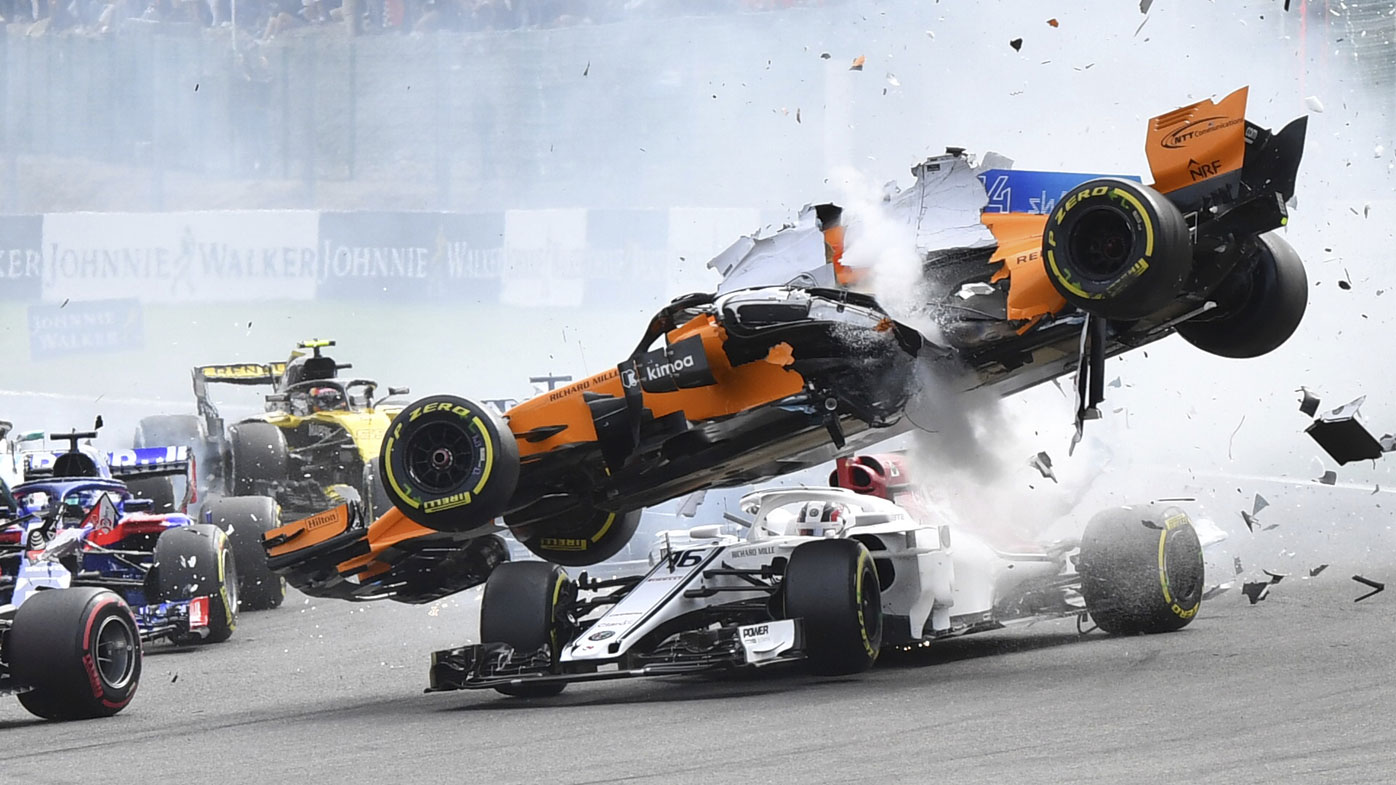 Belgian Grand Prix crash