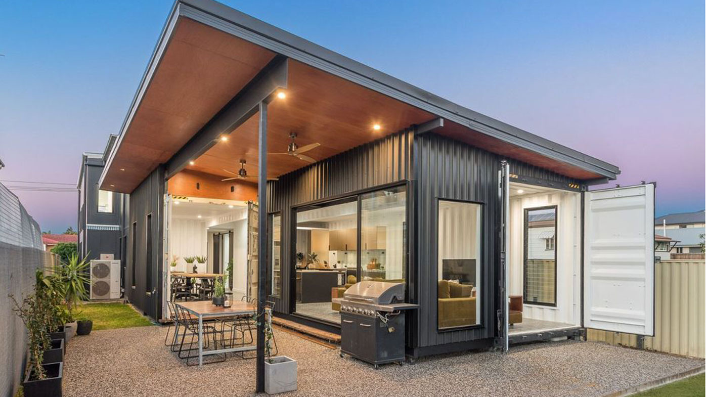 Slick Two Storey Shipping Container Home In Brisbane For