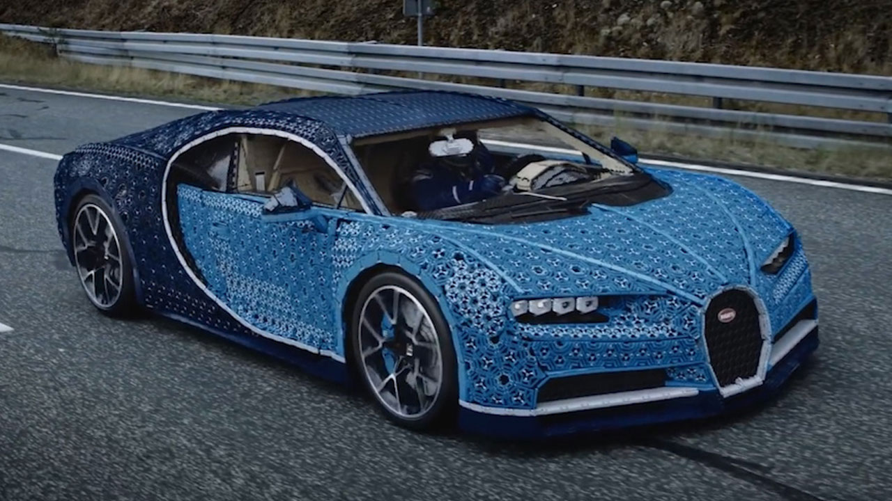 a bunch of geniuses made a working bugatti chiron out of lego pieces