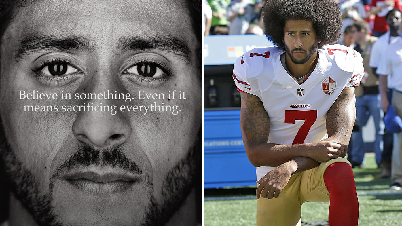 Colin Kaepernick in the new ad for Nike