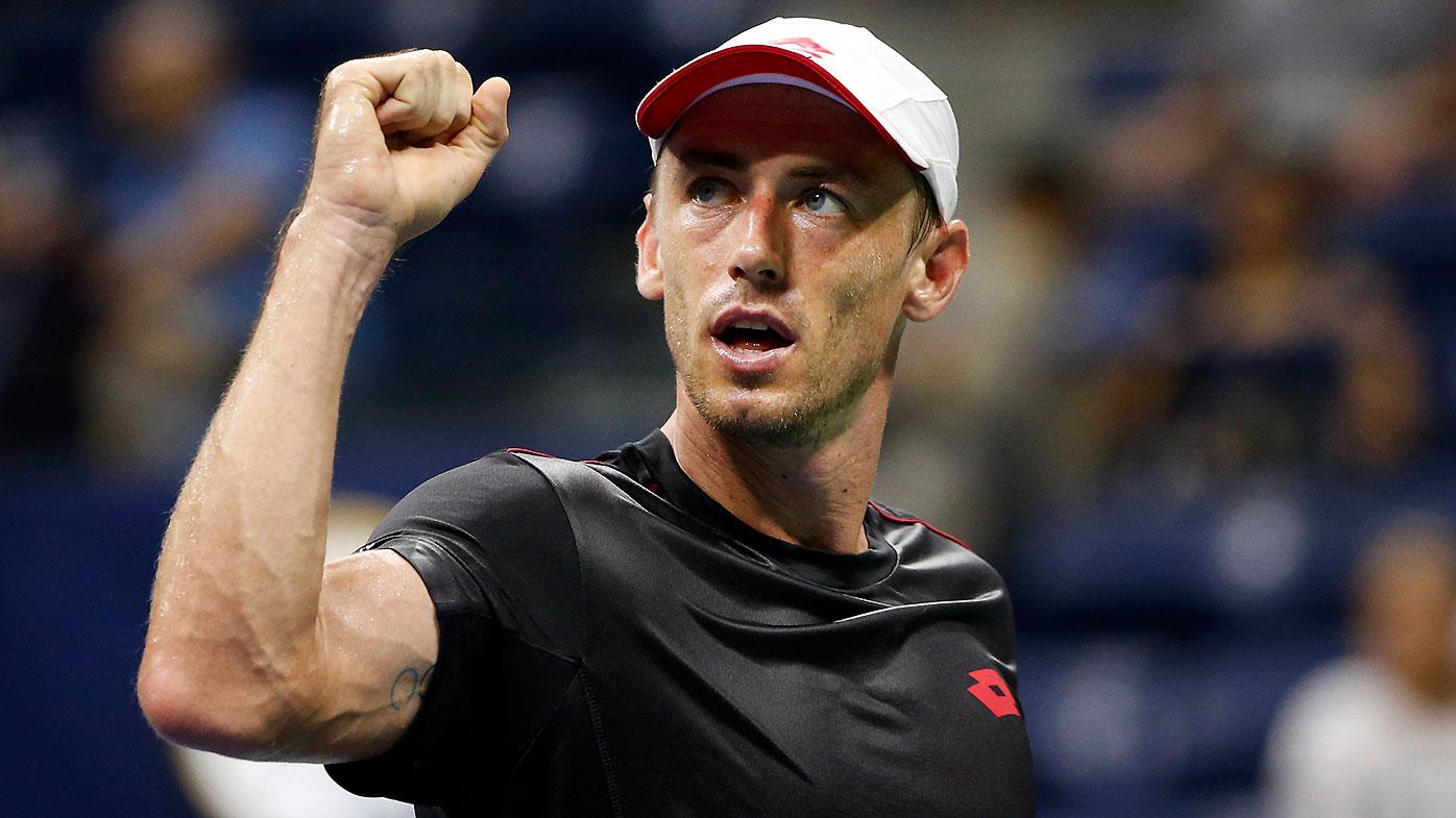 Australia's John Millman victorious against Roger Federer at US Open