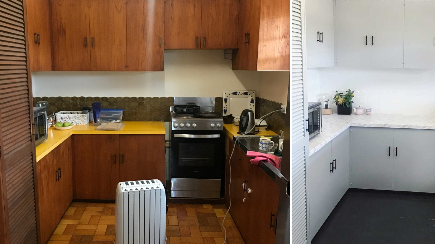 Daughter Surprises Mum With 150 Kmart Kitchen Makeover 9homes