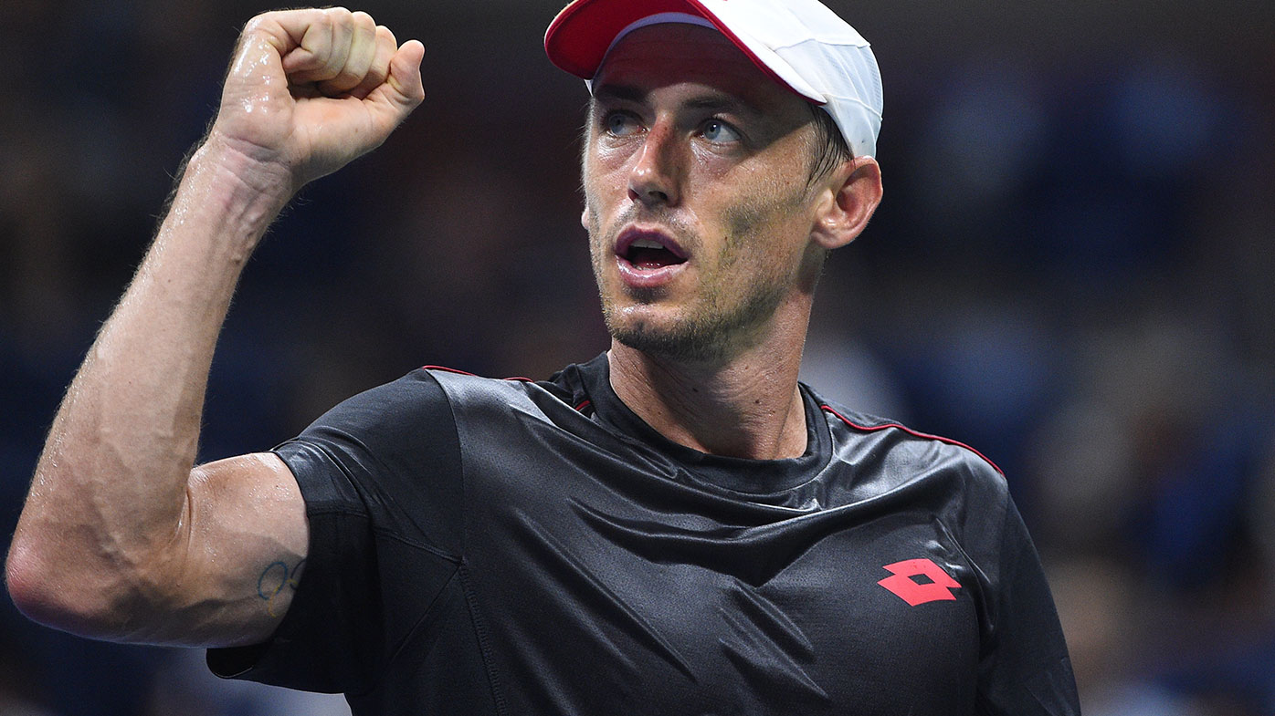 John Millman during his run at the US Open that saw him eliminate Roger Federer