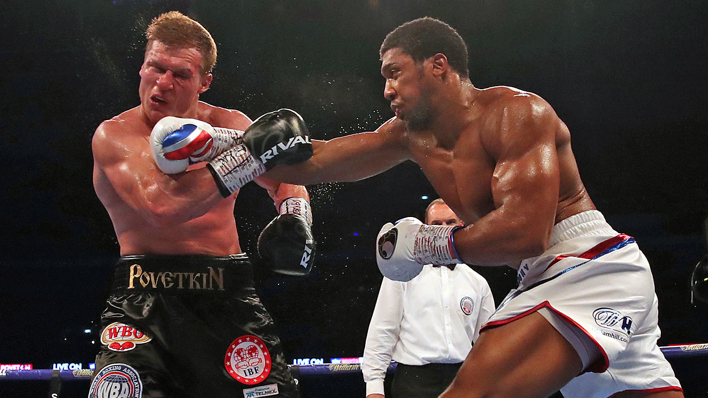 Anthony Joshua delivers a knockout punch