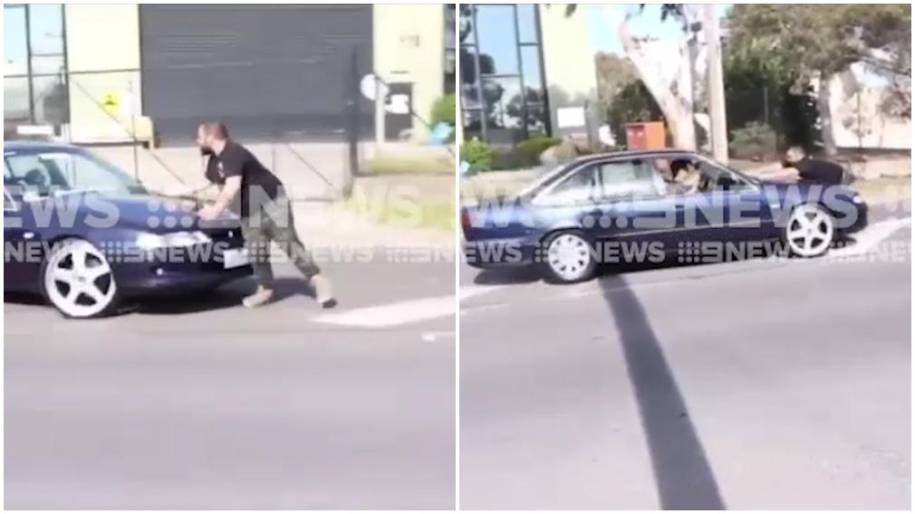 Man flung onto bonnet in hit-run at car meet