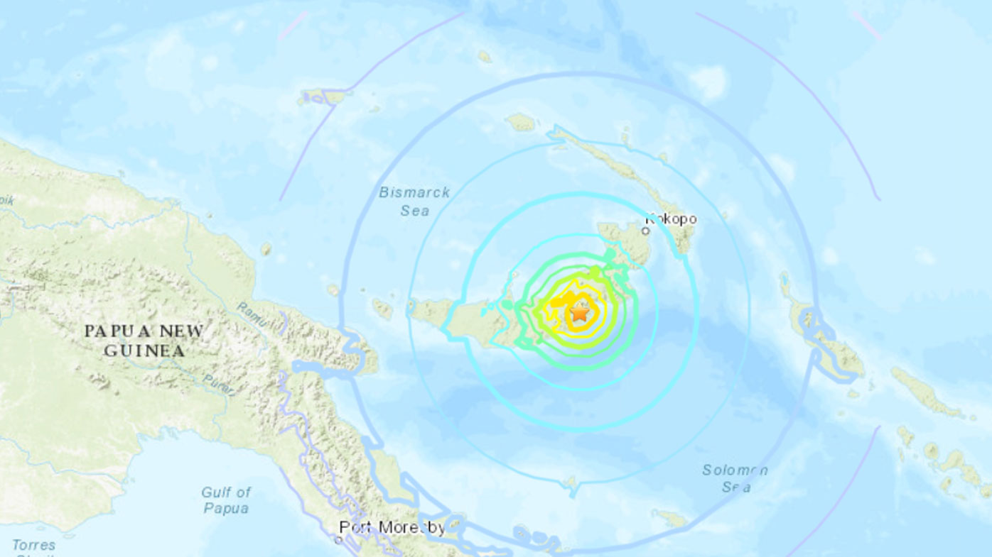 Magnitude-7 earthquake strikes Papua New Guinea
