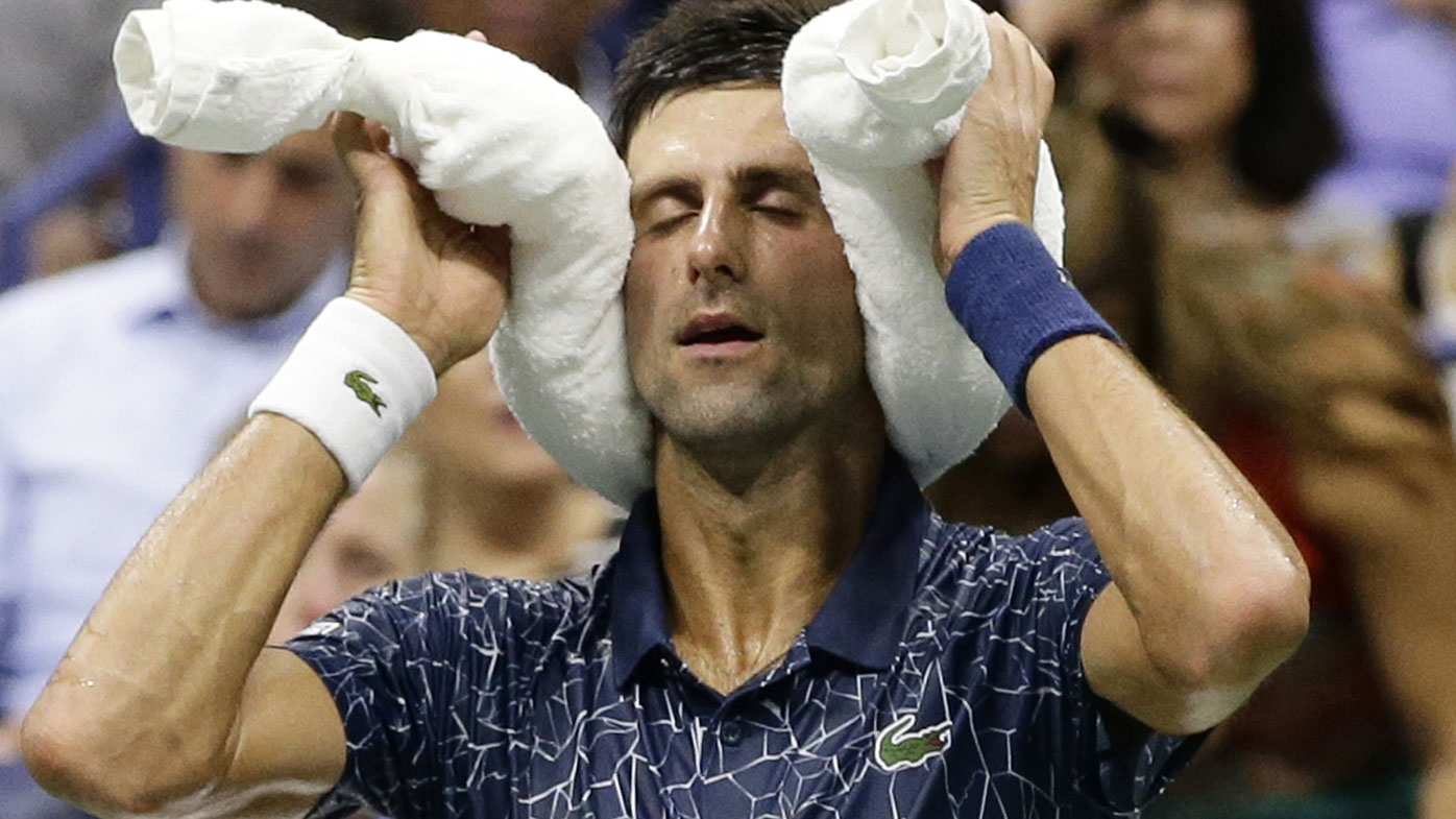 Novak Djokovic melting down in US Open