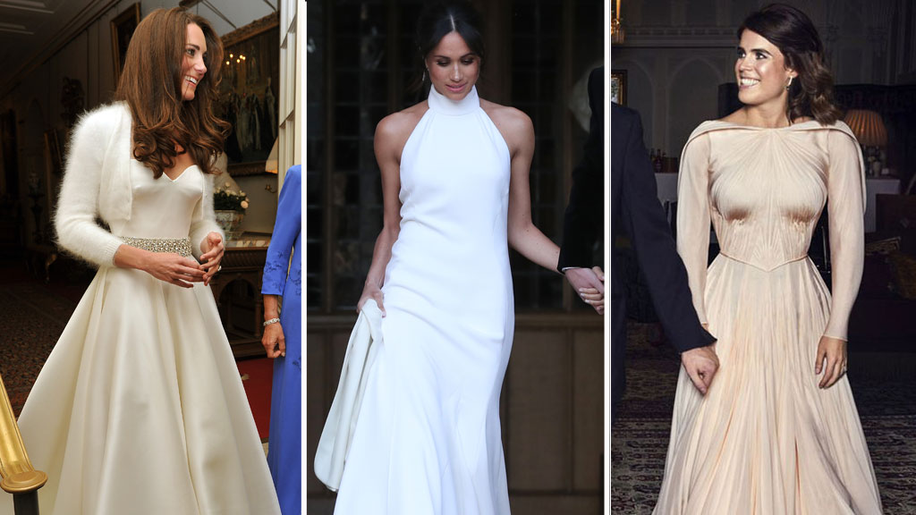 3c9bfcff7935 The major difference in Princess Eugenie s royal wedding reception evening  dress - 9Style