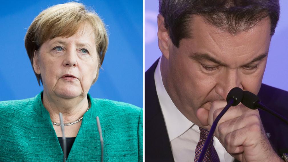Angela Merkel's government left fragile by humiliating Bavaria election performance