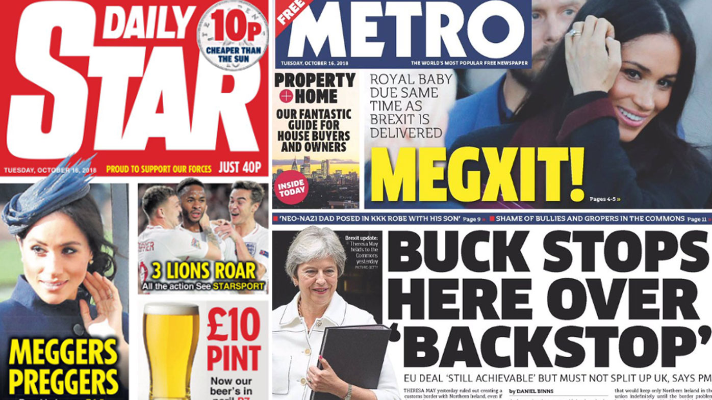 'Megxit': UK newspapers react to Royal Baby news