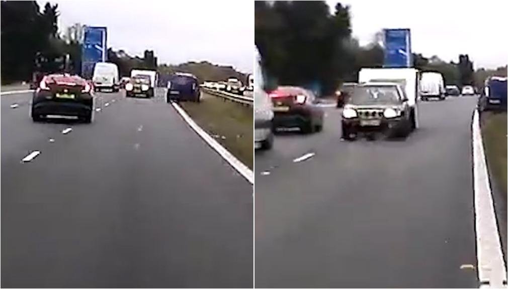 Caravan driver kills three after driving wrong way on UK freeway