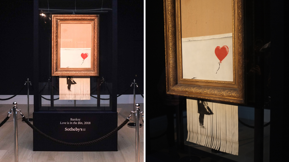 Partial shredding of Banksy art was 'a malfunction'