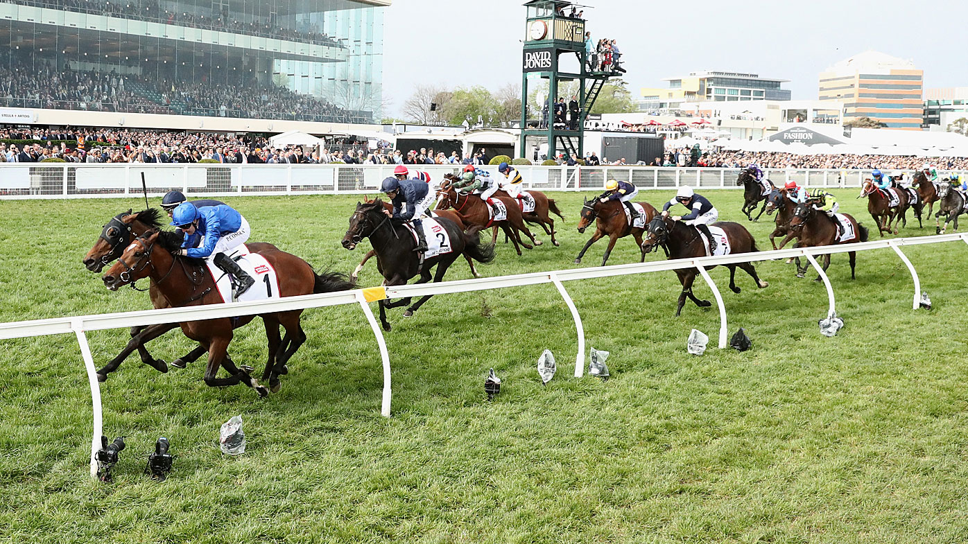 Best Solution wins the Caulfield Cup