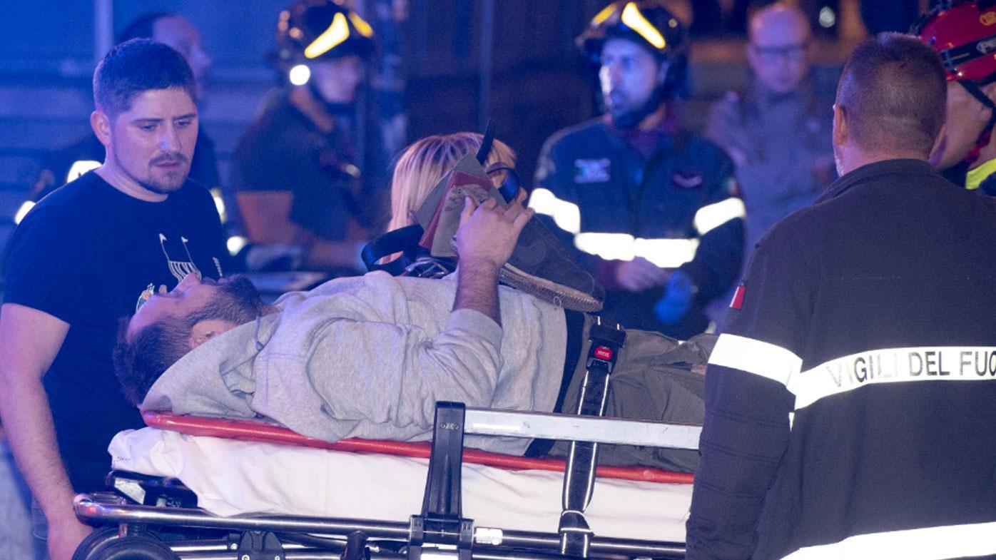 Russian fans hurt in escalator collapse