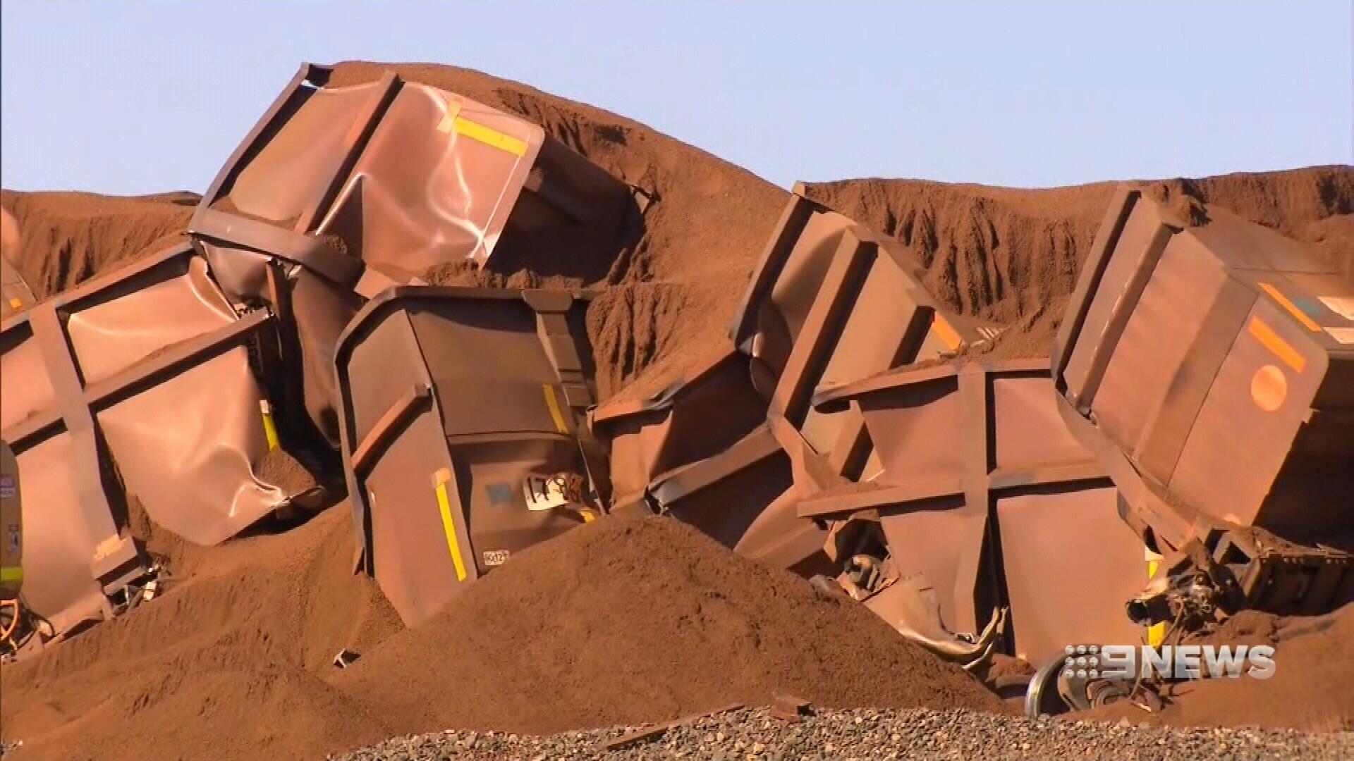 WA runaway train: BHP derails iron ore loco